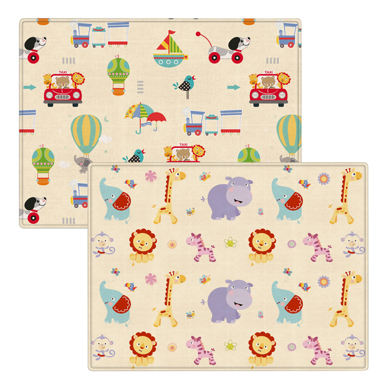 Baby Crawling Infant Play Mats Non-slip Waterproof Cartoon Animal Double-sided Baby Room Floor Carpet Game Rug For Children
