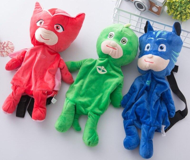 Pj Plush Cartoon Backpack 2019 Character Pj Catboy Owlette Gekko Masks Figures Anime Toys Gift Toys For Children