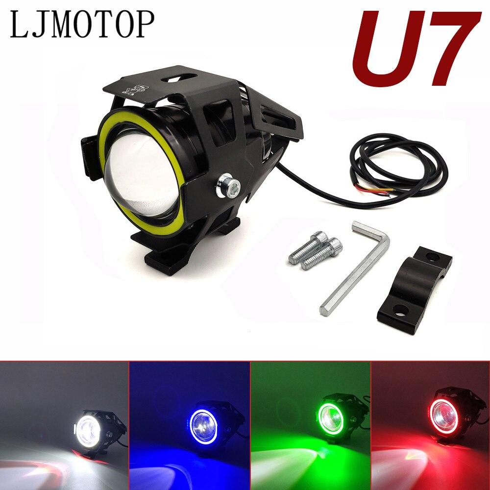 For Yamaha MT125 YZF R15 XT660 TMAX 500 530 XP 500 530 125W Motorcycle Headlight 3000LM Low Beam Flash U7 LED Spotlight|  - title=