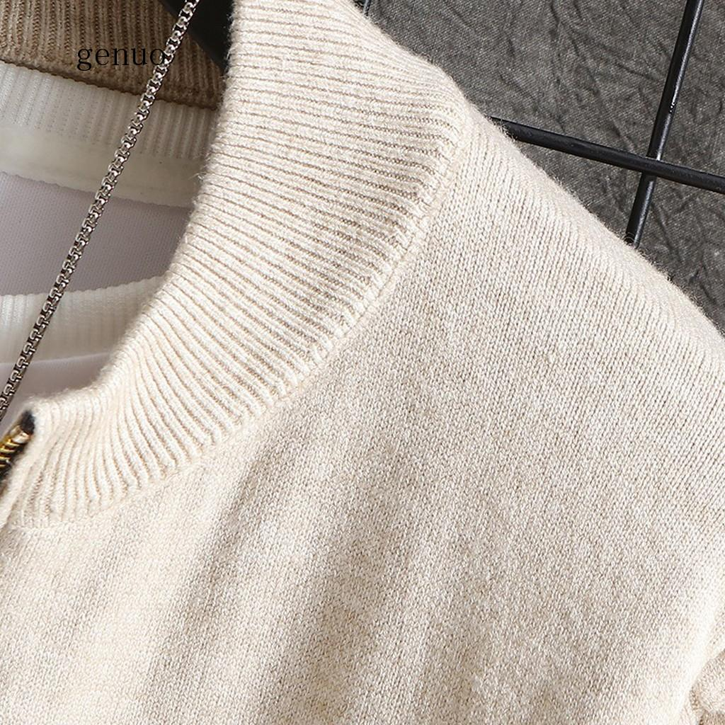 Sweater Men Casual Autumn Winter Zip Warm Outwear Long Sleeve Jacket Coat Knitted Pullovers Sweaters jerseys para hombres