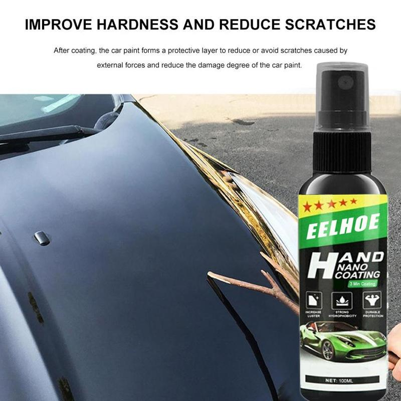 30/50/100ML Nano Liquid Spray Coating Car Polish Spray Sealant Top Coat Quick Nano-Coating Car Spray Wax Car Cleaning