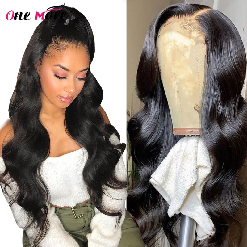 One More Transparent Lace Front Wig 13x4 Lace Front Human Hair Wigs For Women Brazilian Body Wave Wig 150% Density 10-24 Remy