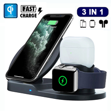 3in1 צ י מהיר אלחוטי מטען Dock עבור Airpods פרו iPhone 11 פרו מקס Xs 8 בתוספת Samsung טעינת Stand עבור אפל שעון 5 4 3 2 1מטענים לטלפון נייד