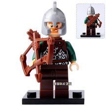 The Archer Mini Figures The Lord of the Rings Hobbit Rohan Grima Aragorn Boromir minifig DIY Building Blocks Kids Xmas Toy(China)