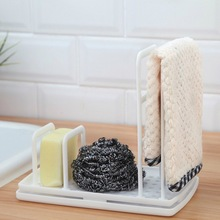 Rag-Rack Soap-Shelf Dish-Drainer Storage-Holders Dish-Cloth Multi-Function Free-Punching-Sponge