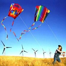 Горячая Распродажа цветной парафоил воздушный змей с 200 см хвостами 30 м Летающая линия открытый мягкий летающий воздушный змей игрушки для детей подарок открытый инструмент