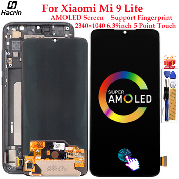 AMOLED Display For Xiaomi Mi 9 Lite LCD Display Touch Screen Digitizer Assembly Replacement For Xiaomi Mi 9 Lite Screen 6.39inch tested 6 44 for xiaomi mi max 3 max3 lcd display touch screen digitizer assembly replacement accessories for mi max3 lcd