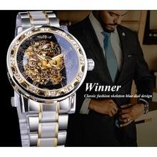 2020 Winner Hot Top Brand Luxury Male Fashion Diamond Luminous Watch Royal Design Men Mechanical Skeleton Wrist Watch Clock