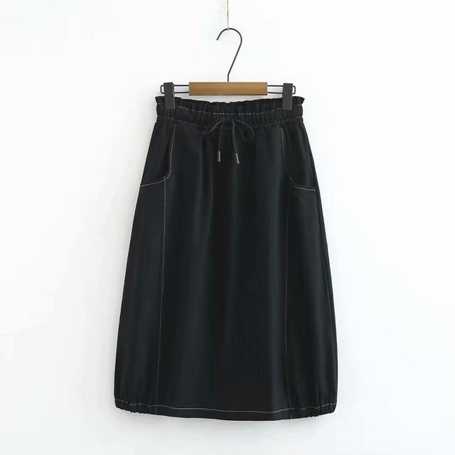 Γυναικεία φούστα ανοιξιάτικη με ελαστική μέση xl έως 4xl