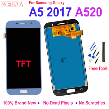 Lcd For Samsung Galaxy A5 2017 A520 LCD Display Touch Screen Digitizer Glass Assembly Replacement for Samsung A520F SM-A520F Lcd for samsung galaxy j3 2017 j330 lcd display touch screen digitizer replacement for samsung j330f sm j330f phone parts freetools