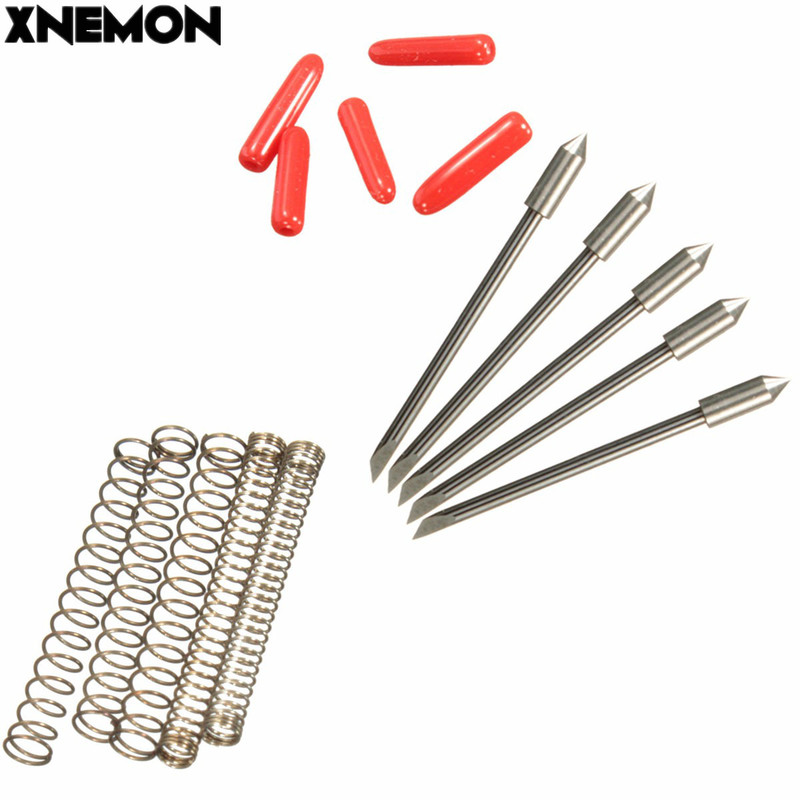 XNEMON High Quality 5PCS 45 Degrees Blades For Graphtec CB09 Vinyl Cutter Cutting Plotter+Springs 45 Drgree Milling Cutter