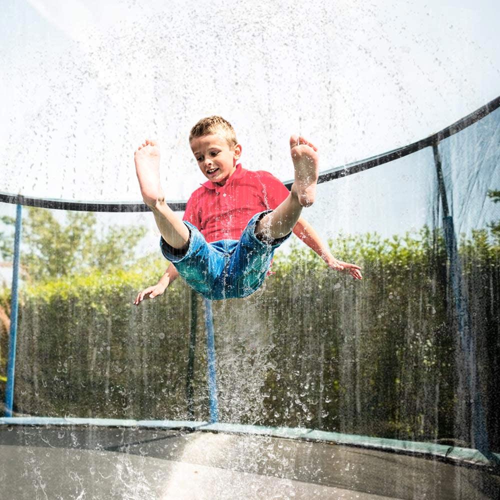 Summer Water Sprinkler Trampoline Sprinkler Outdoor Garden Water Games Toy Sprayer Backyard Water Park Accessories 39 Feet Game