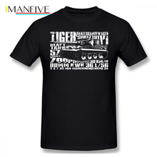 Wehrmacht T Shirt Tiger I T-Shirt Man Cute Tee Graphic Cotton Short Sleeve Fashion Oversize Tshirt
