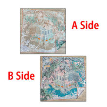 Luxury 50% Cashmere 50% Silk Scarf Women Fashion Double-sided Different Color Forest Jungle House Shawl Stole 135*135cm