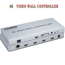 2x2 וידאו קיר בקר 1 HDMI/DVI קלט 4 HDMI פלט 4K טלוויזיה מעבד תמונות תפרים וידאו קיר מעבד