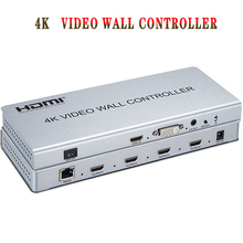 2x2 Video wall controller 1 HDMI/DVI Input 4 HDMI Output 4K TV Processor Images Stitching Video Wall Processor free shipping led display controller led video processor usb video processor ams lvp613 compar vdwall lvp515 with audio output