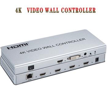 цена на 2x2 Video wall controller 1 HDMI/DVI Input 4 HDMI Output 4K TV Processor Images Stitching Video Wall Processor