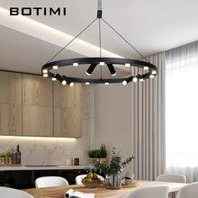 Botimi moderno preto redondo luzes pingente de metal para jantar estilo industrial do vintage fio pedante lâmpadas iluminação interior lâmpada barra