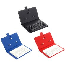 Three System Universal Two-in-One Universal Mobile Keyboard Leather Sheath Wireless Keyboard Protective Case