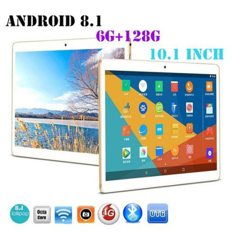 2020 Tablet Original 10.1 Inch IPS Screen 6G+128G Android 8.0 Dual Sim Bluetooth 4G Phone Pad Tablet PC MT6797 Ten Cores Tablets