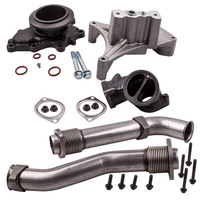 Bellowed Up Pipes+Housing&Turbo Pedestal 1999.5 2003 For Ford 7.3 Powerstroke Diesel