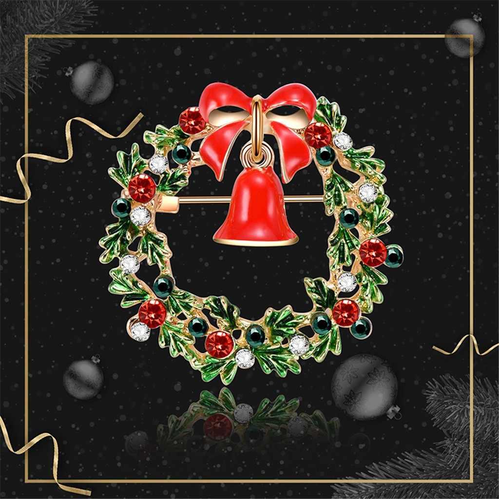 Vendita calda Delle Donne di Natale Spilla Babbo Stivali Babbo Natale Alberi di Calzini e Calzettoni Cappello di Trasporto Gioielli Spilla di Strass Spille di Strass 2020