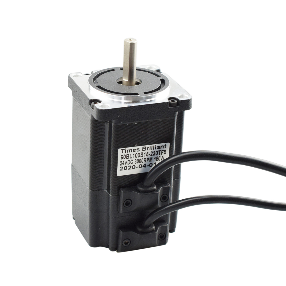 24v DC Brushless Motor 150w 3000 Rpm High Speed DC Motor Low Noise Shaft Diameter 8mm