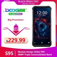 """DOOGEE S95 модульный прочный мобильный телефон IP68 смартфон 6,3 """"Helio P90 Octa Core 6 ГБ 128 48MP тройной Камера Android 9,0 5150 мАч"""