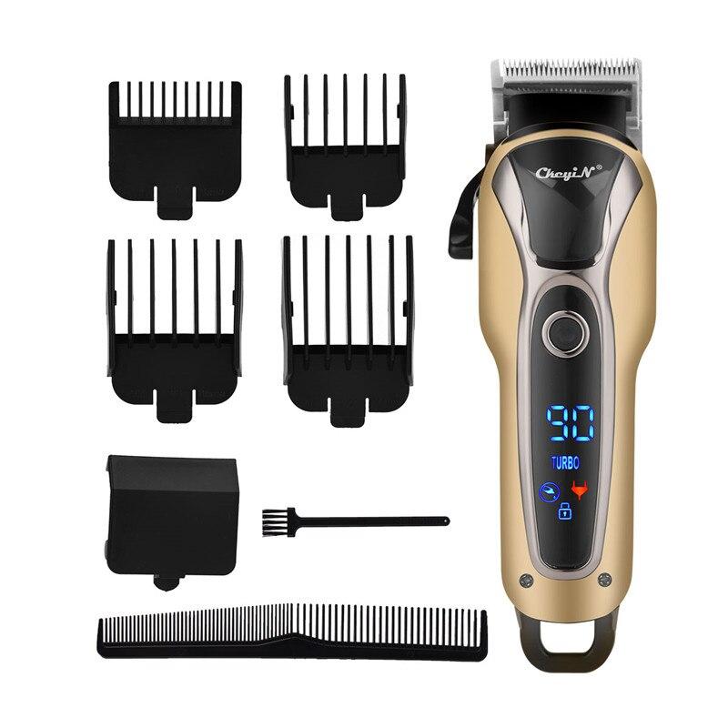 110-240V Professional Electric Hair Clipper Razor Men Beard Trimmer Hair Cutting Machine Hair Cutter Tool LCD Display