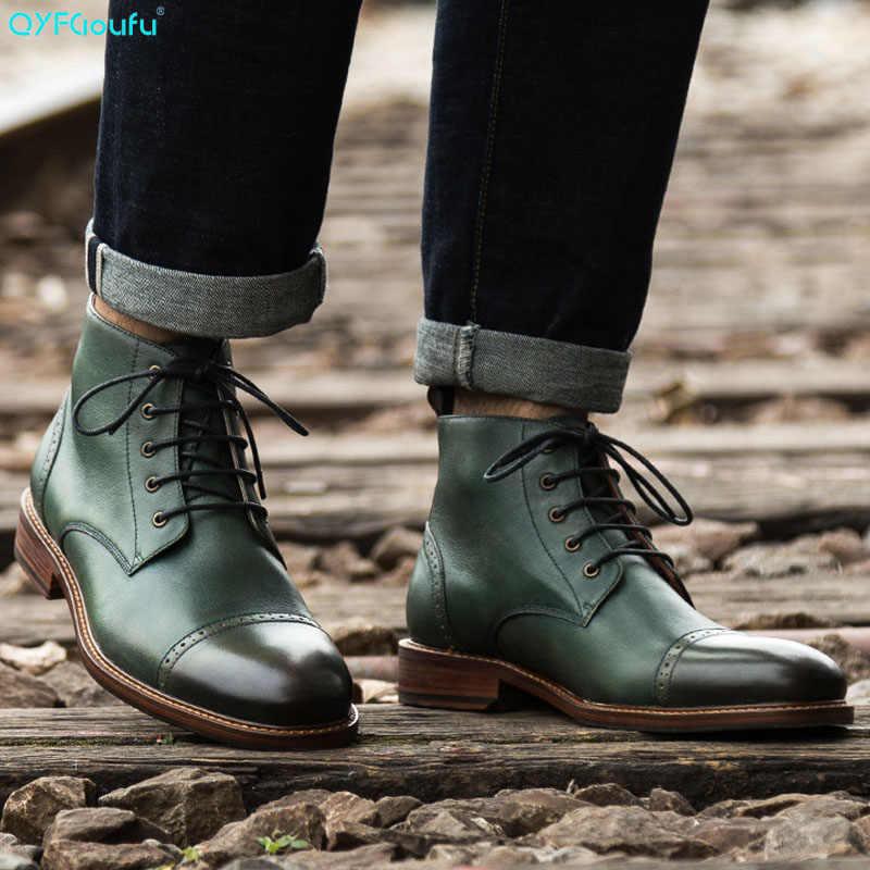 Quality Autumn Vintage Men Shoes