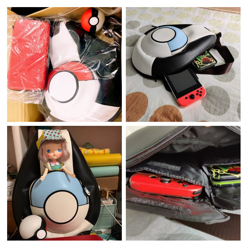 Pokemon Pikachu Pokeball Canvas Messenger Shoulder School Bag Satchel Cosplay
