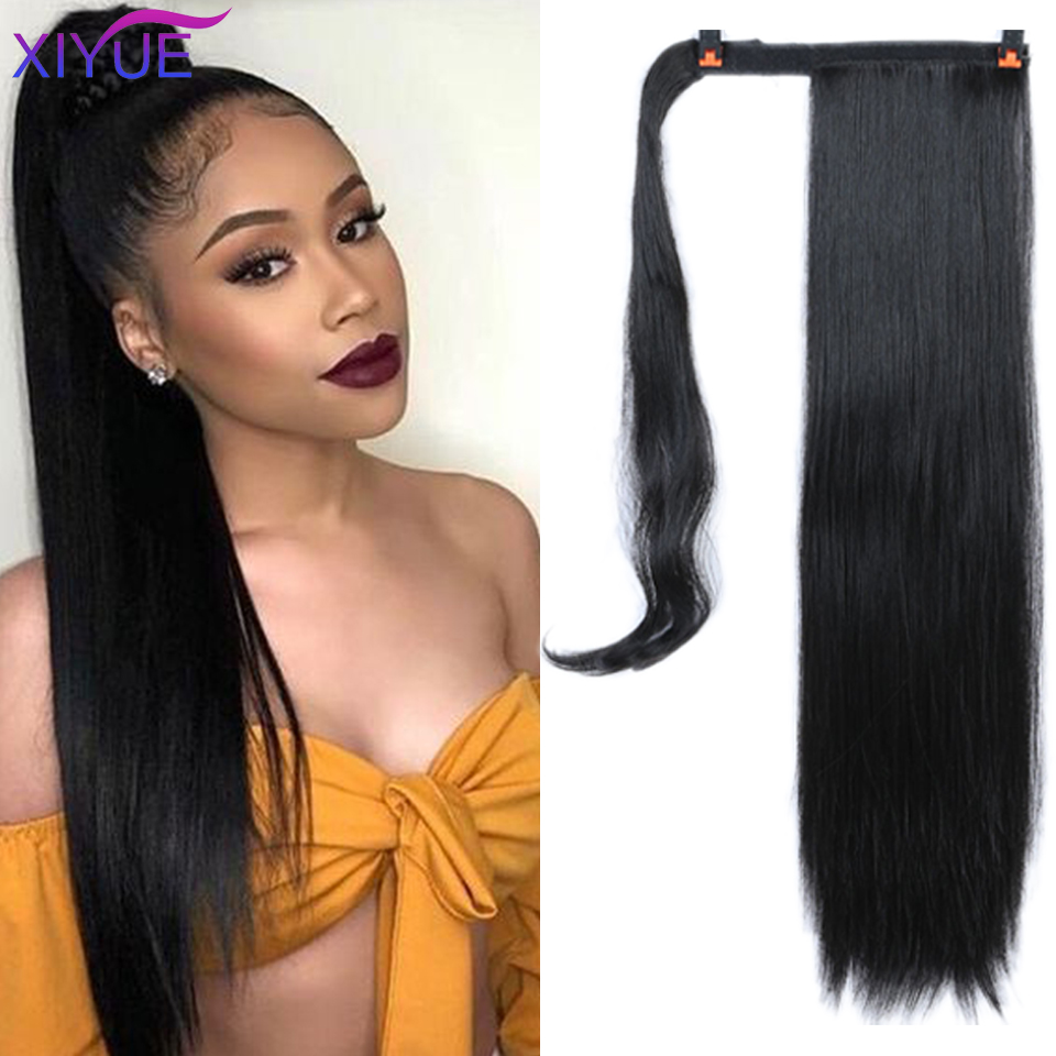 24 Inches Long Wavy Hair Clip In Hair Tail False Hair Ponytail Hairpiece With Hairpins Synthetic Hair Pony Tail Hair Extension