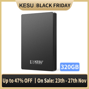 KESU 2.5 Inch External Hard Drive 320GB USB 3.0 HDD Portable External HD Hard Disk for Desktop Laptop Server Black/Blue/Red