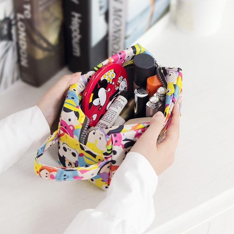 Portable Cartoon Travel Cosmetic Bags Lipstick Bag Women Toiletries Organizer Makeup Bag Waterproof Storage Make Up Cases