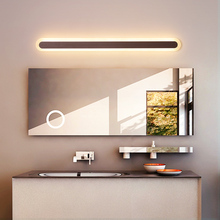 Brown Modern LED Mirror Lights 0.4M~1.2M wall lamp bathroom light bedroom headboard wall sconce lampe deco Anti-fog mirror light modern 12w 62cm long square indoor crystal led wall light banheiro deco bathroom mirror lights wall sconce lamps for home