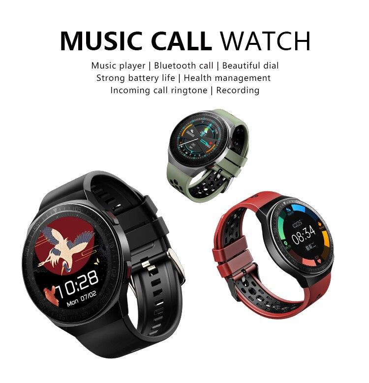 H1f4e2fba88c6458bab05eec8b3562a9bA MT3 Smart Watch Men Women Music Play 8G Memory Bluetooth Call Heart Rate Fitness Health Tracker Sport Waterproof Smartwatch