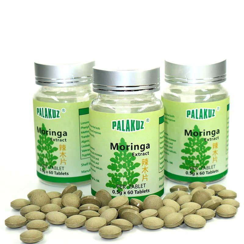 3 בקבוקים, טבעי מורינגה עלה Tablet, horseradishtreeleaves מורינגה תמצית עבור שומנים בדם נמוכים יותר, בריאות עבור גברים & נשים.