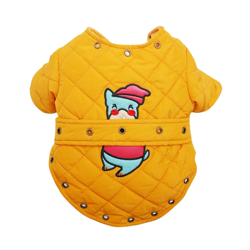 Puppy Clothes Thickening 2 Legge Apparel short sleeve Cold Weather Yellow Warm Outdoor Jacket Fashion Winter in Dog Coats Jackets from Home Garden
