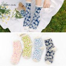 Новинка 2020 женские носки с забавными цветами хлопковые цветные