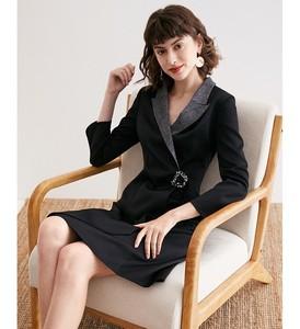 Image 3 - Womens suit dress 2019 autumn new collection waist A line skirt ol professional fit temperament womens wear