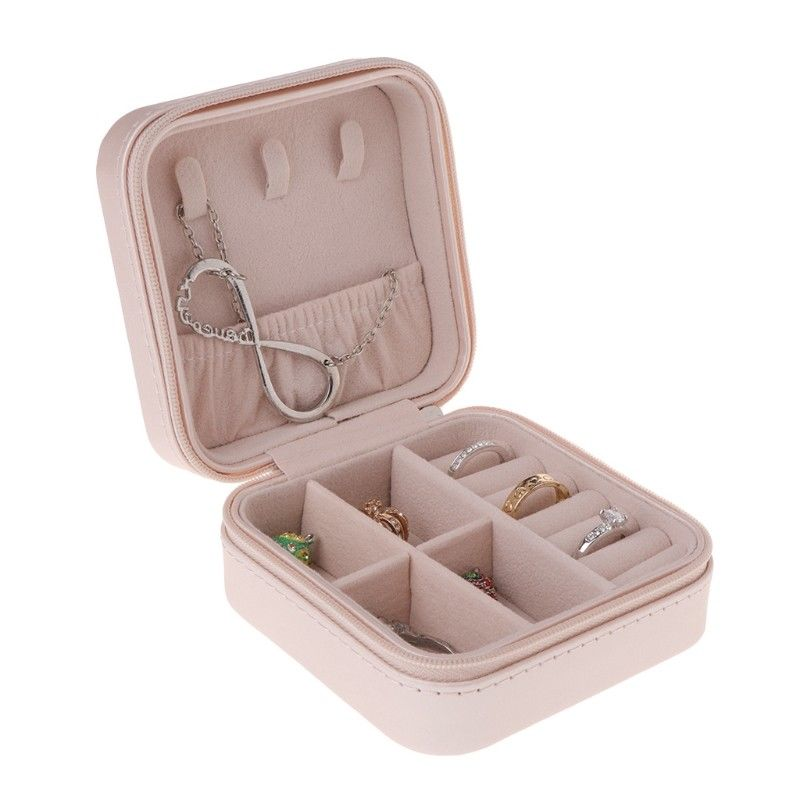 New Portable Jewelry Box Storage Organizer Zipper Portable Women Display Travel Case ---MS