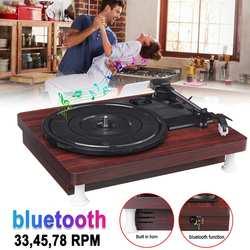 33,45, 78 RPM LP reproductor de grabación bluetooth altavoces incorporados disco giratorio de vinilo con gramófono antiguo Audio RCA