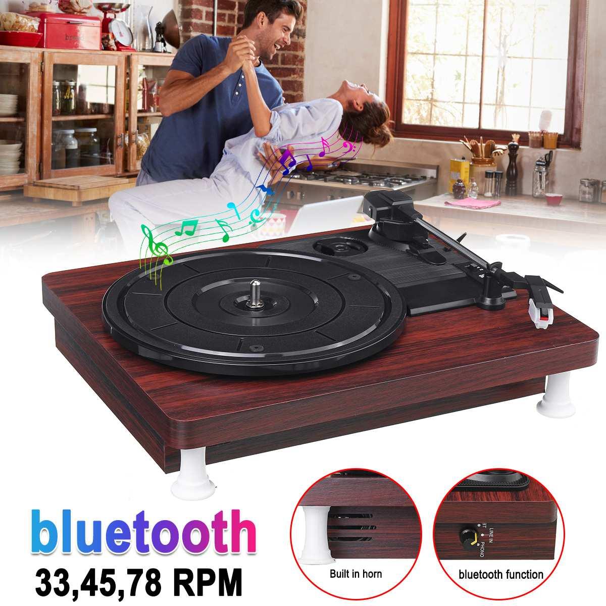 33, 45, 78 tr/min lecteur de disque LP bluetooth haut-parleurs intégrés Antique Gramophone platine vinyle Audio RCA