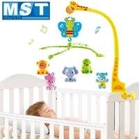 赤ちゃんのおもちゃ 0-12 ヶ月ミュージカルベビーベッドのベッドベル動物ガラガラロータリーブラケットキリンホルダー風アップオルゴール幼児