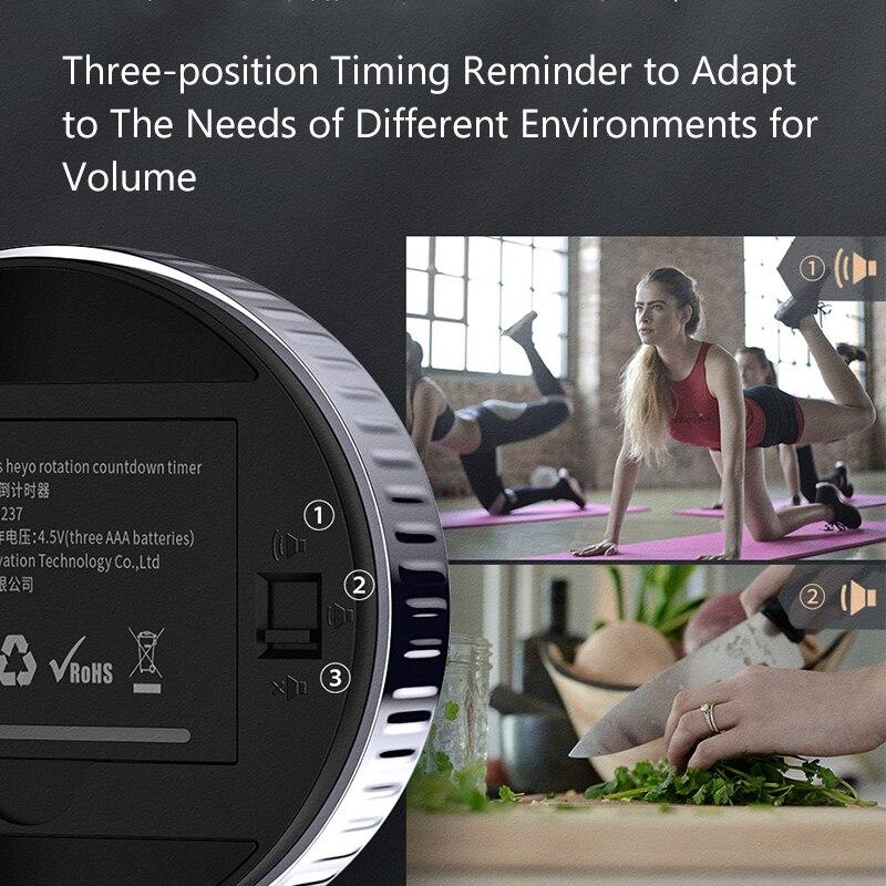 Image 5 - Baseus Cronômetro digital, cronômetro magnético eletrônico com relógio e alarme em LED digital para o escritório, banheiro, cozinhaSuporte universal p/ carro   -