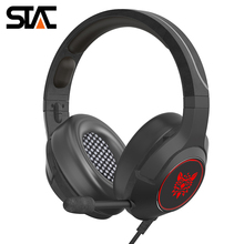 K9 Retractable Mic Gaming Headset Strong Bass Cool Light Wired Stereo Soft Memory Earmuffs Over-ear Gaming Headphone