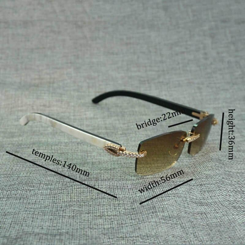 Горный хрусталь черный, Белый Цвет рога буйвола оправы солнцезащитных очков Для мужчин натурального дерева солнцезащитные очки ретро Отте... - 6