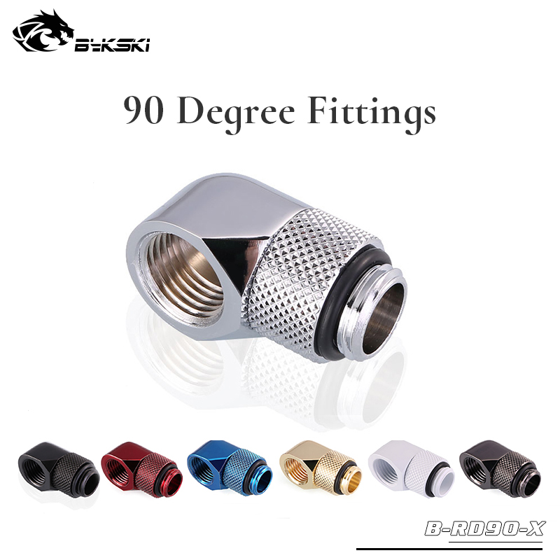 Bykski B-RD90-X 90 Degree Fittings With Rotation Boutique Multiple Colour G1/4'' Water Cooling Commonly Used Fittings