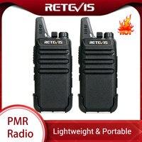RETEVIS RT622 RT22 Mini PMR Walkie Talkie 2 pcs PMR446 PMR 446 Radio FRS VOX Handsfree Woki Toki Pair Two way Radio Comunicador