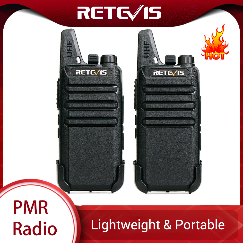 RETEVIS RT622 RT22 Mini PMR Walkie Talkie 2 pcs PMR446 PMR 446 Radio FRS VOX Handsfree Woki Toki Pair Two-way Radio Comunicador
